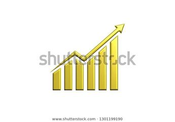 Finance Rising Logo Gold Style 3d Stock Illustration 1301199190  #gold #finance #bar #wallstreet #corporate #grow #growing #money #economy #income