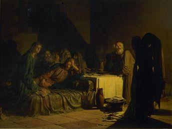 "Nikolai Ge ""The Last Supper"" 1863 (Russian Museum, St. Petersburg)"