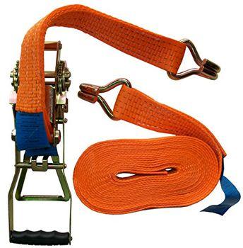 Ratchet Yellow Petex 43193119/Ratchet Tie Down Strap 2/Pieces 10/m x 50/mm 2500//5000/Dan Snap Hook