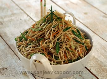 How to make Perfect Hakka Noodles. -Noodles tossed with mixed vegetables and Chinese sauces and stir fried.