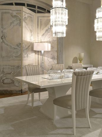 Heritage Collection - Frac dining table, Elisabetta chairs and Harry console www.luxurylivinggroup.com #Heritage #LuxuryLivingGroup
