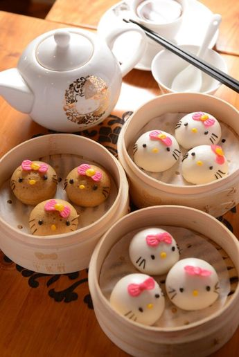 Try the Hello Kitty Dim Sum in Hong Kong