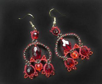Tatting Pattern Earring Tutorial Pdf Shuttle Lace Jewelry Frivolite Earrings Tating Beadwork