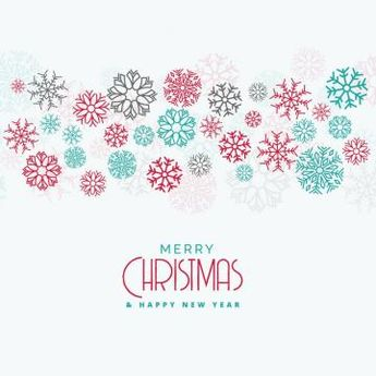 Elegant Christmas Background With Colorful Flowing Snowflakes, Christmas Vector, Christmas, Abstract PNG and Vector with Transparent Background for Free Download