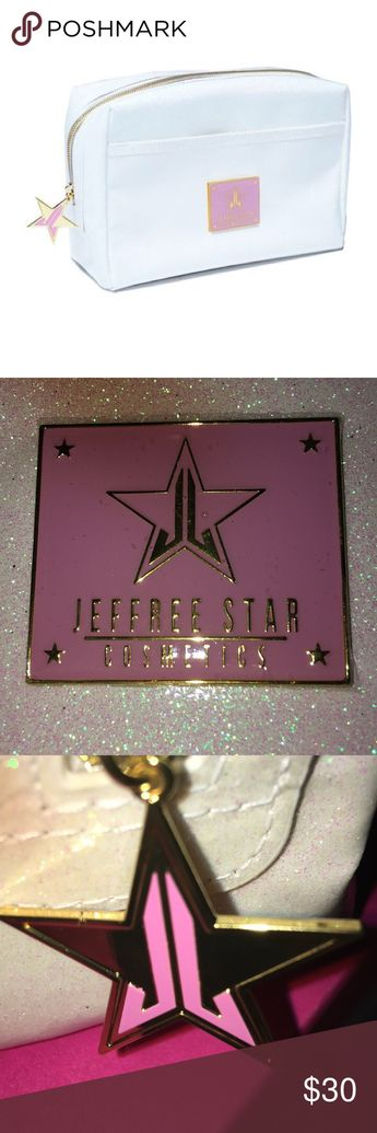 White glitter jeffree star makeup bag Brand new white glitter jeffree star makeup bag Jeffree Star Bags Cosmetic Bags & Cases