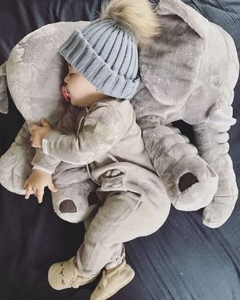 """Big Soft Baby Elephant - """"Loved it! Gave it to my daughter at her baby shower......it was a great hit!!!"""" - Glenda - Customer"""