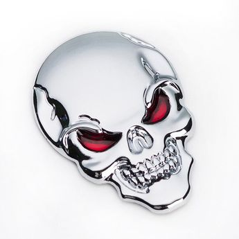 3.4 * 5cm Large 3D 3M Skull Metal Skeleton Crossbones Car Motorcycle Sticker Skull Emblem Badge car styling stickers accessories