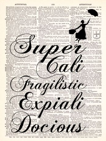 Mary Poppins Super Cali Fragilistic  Vintage by TheRekindledPage, $7.98