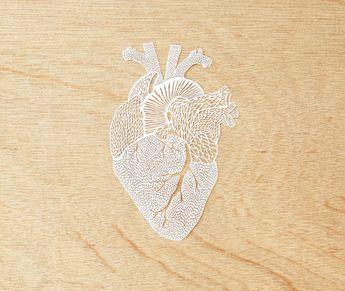 Hand-Cut Papercutting Artwork - Anatomical Heart 7f806ddc1575