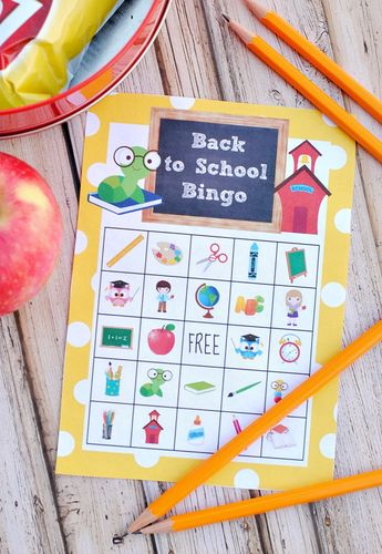 Back to School Bingo Game to Print & Play
