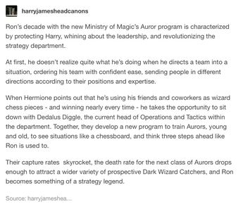 <<Yasssss there are not enough Ron Weasley appreciation future headcanons, but if there were, i wish they'd all be like this one