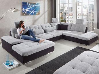 Details Zu Wohnlandschaft Claudia Xxl Ecksofa Couch Sofa Mi