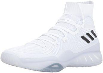 99cf0319328 adidas Performance Mens Crazy Explosive 2017 Primeknit BasketballShoes  WhiteBlackGrey One 14 Medium US