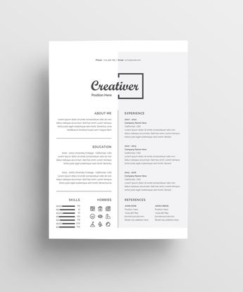 Resume/Cv Template. Professionally designed, easy-to-edit template package for the job seeker who wants to leave a creative and unforgettable impression. #resume #cv #template #creative #professional #job #minimal #modern