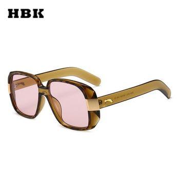 70f1cee7374  Fashion  BestPrice HBK Unisex Pilot Square Sunglasses Big Frame Vintage  Women Men K32174