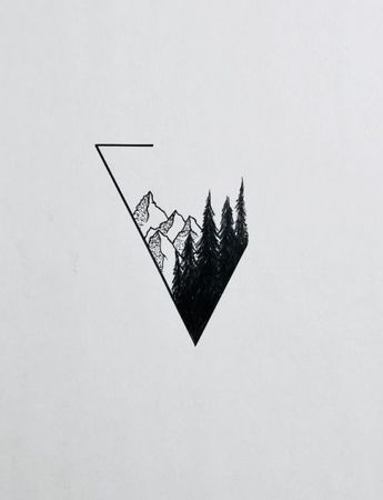 #inspiration #drawing #forest #mountains #hills #triangle #handdrawing #art
