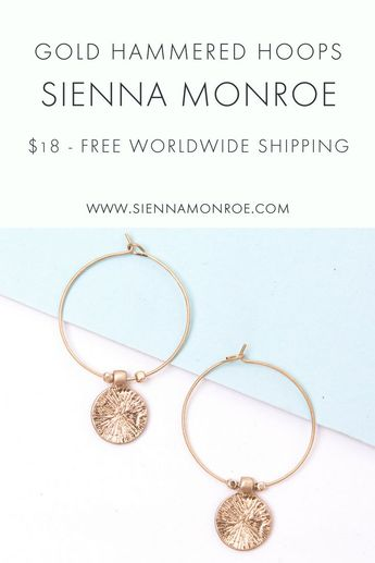Bijoux – Tendance 2017/2018 : We love a good hoop at Sienna Monroe, and that's why we have so many to choo…