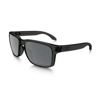 a3444b62cbe9 Oakley OO9102-24 Holbrook Grey Smoked Square Sunglasses Frames with Black  Iridium Lenses