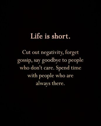 Positive Quotes : Life is short..