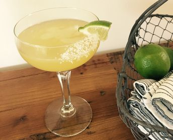 Margarita. 2 oz Tequila, 1 1/2 oz fresh lime juice, 3/4 oz Agave, 1 oz Cointreau or Grand Marnier. To make a morning cocktail add 1 oz fresh OJ, reduce sweetener to 1/2 oz. Can sub simple syrup for agave.