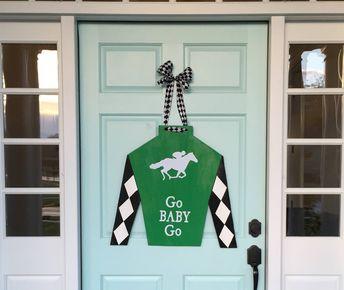 Ky Derby Jockey Silk Ky Derby Door Hanger Ky Derby Wreath