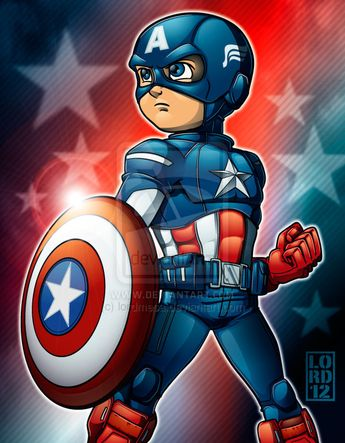 Speed Vector - Lil Captain America by lordmesa.deviantart.com