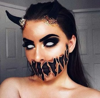 110+ devilish halloween makeup looks even beginners can pull off 4 ~ thereds.me