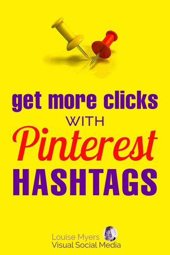 Pinterest marketing tips: Click to learn how to use hashtags to get more traffic to your blog faster! | #LouiseM #HashtagTips #BlogTrafficTips #PinterestTips #PinterestMarketing