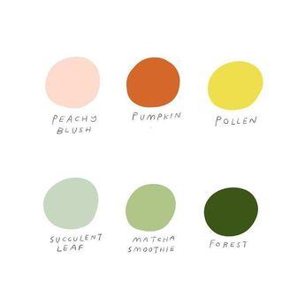 Combinaison de Palette de couleurs coloré - Idéal pour un site web fun et jeune