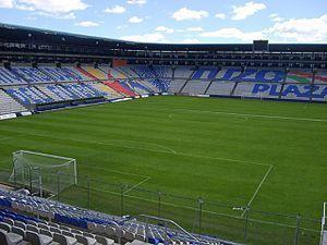 Interior del Estadio Hidalgo.