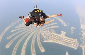 What an exhilarating feeling! like WOW! This was my second time sky diving and Dubai is hands down the BEST place to sky dive. The views are insane! The highest building in the world. the architecture, and the Palm islands! Check my vide out to see what I mean!