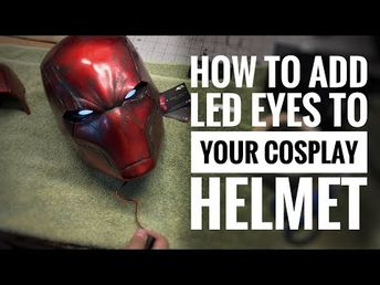 How to add LED eyes to your cosplay helmet and armor - YouTube