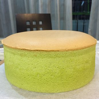 Pandan Sponge Cake using Chiffon Recipe (cooked dough)