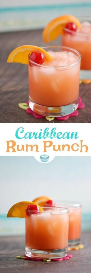 Brighten your cold winter days with a Caribbean Rum Punch! It's the perfect cure for shoveling snow and braving freezing cold temperatures outside. #rum #caribbean #cocktail via @cookwithcurls by hallie