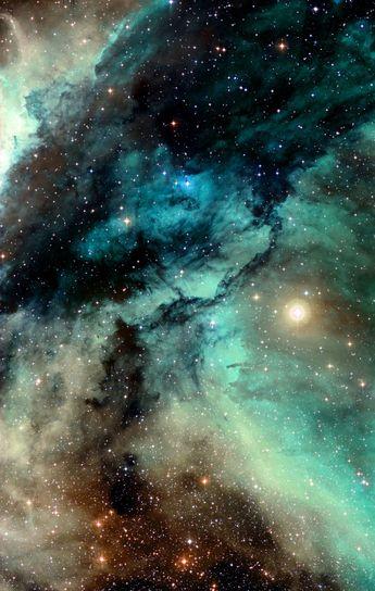 The Carina Nebula around the Wolf–Rayet star WR 22