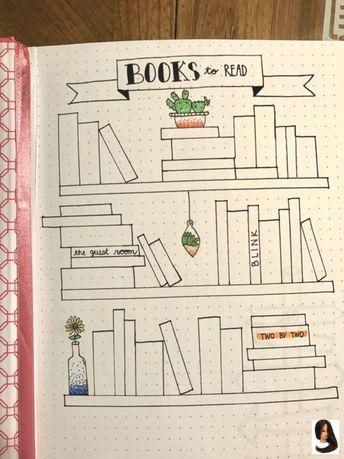 "#Books #Bullet #bullet journal ideas #Journal #Page #Read ""Books to Read"" bullet journal page ""Books to Read"" bullet journal page -"