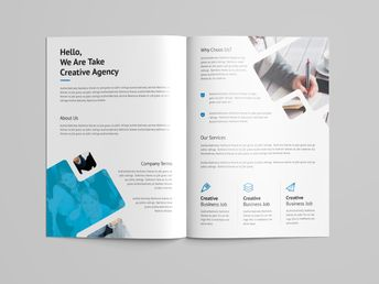 Castor Professional Bi-Fold Brochure Template - Graphic Templates