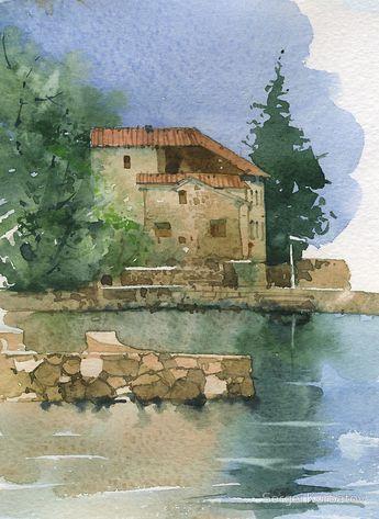 Sergei Kurbatov watercolor