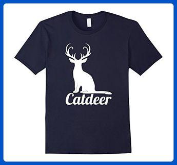 15d27b8cd Mens Funny CatDeer Hybrid Animal TShirt For Cat And Deer Lovers Small Navy  - Animal shirts