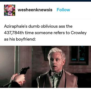 "A Z Fell on Instagram: ""Further proof that I am Aziraphale"