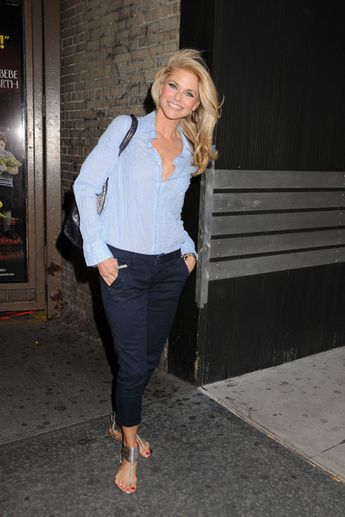 Christie Brinkley at the Ambassador Theatre