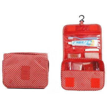 51156447805 ColorMixs® Hanging Toiletry Kit Clear Travel BAG Cosmetic Carry Case  Toiletry (Red Star)