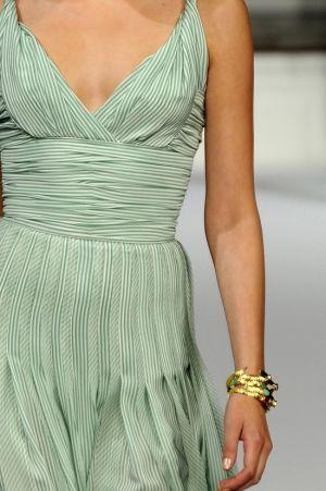 Subtle stripes + pleating = perfection