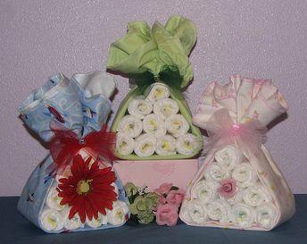 Diaper Bouquet, Baby Shower Centerpiece, Unique Diaper Creations, Baby Shower Bouquet, Baby Shower G