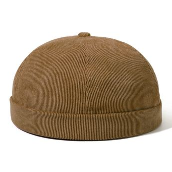 b72c8a3a Womens Adjustable Solid French Corduroy Bucket Cap Retro Vogue Crimping  Warm Brimless Hats
