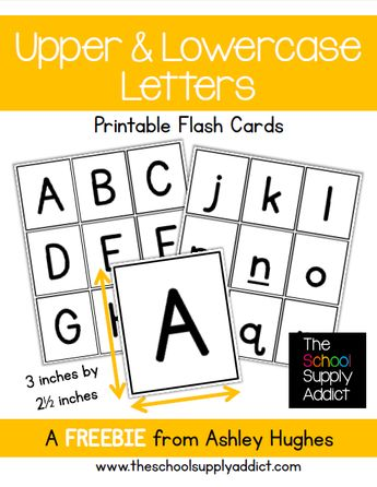 FREE Alphabet Flash Cards from The School Supply Addict                                                                                                                                                                                 More