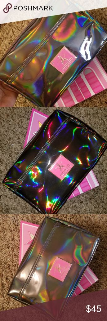🆕️Jeffree Star, Black Holo Makeup Bag New, never used, Jeffree Star, Black Holo Makeup Bag. 😍 Jeffree Star Makeup