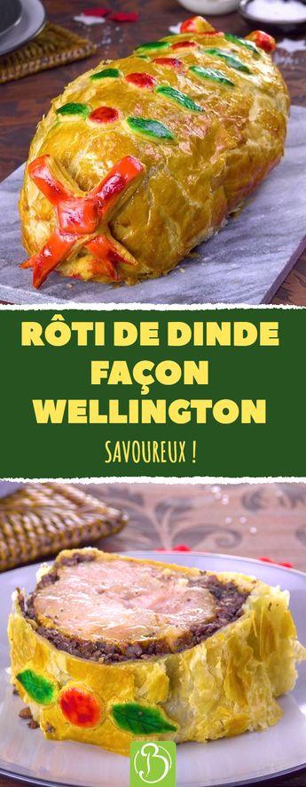 Rôti de dinde façon Wellington. Savoureux ! #boeuf #roti #dinde #wellington #noel #repas #pâte #feuilletée