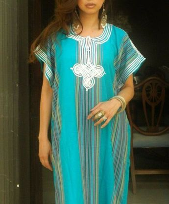 4b127d05a4 Details about Resort caftan bedoin, moroccan kaftan,caftan bohémian wear,  resort wear