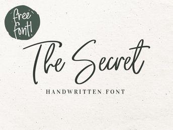 The Secret - Free Handwritten Font